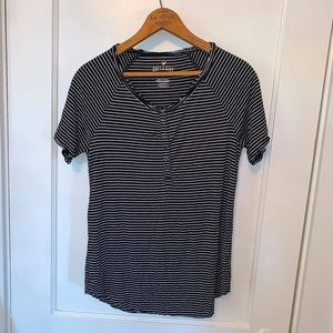 American Eagle striped button up tee